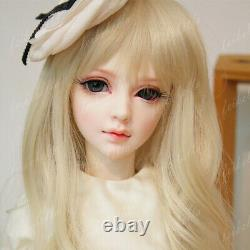 Bjd 1/3 Doll Girl Bare Tan Skin Jointed Doll + Eyes+ Maquillage Du Visage Et Oreilles Elfes