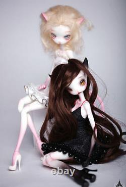 Bjd Sd Doll 1/6 Long Ear Cat Dolls Resin Model Reborn Face Make Up+ Eyes White