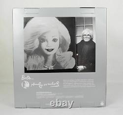 Brand New Rare Scellé Étiquette Platinum Barbie Doll Andy Warhol Nrfb Mattel 2015