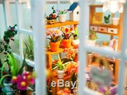 Bricolage Artesanat Miniature Poupées Maison En Bois Le Retour Jardin Serre 2019