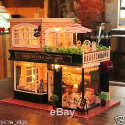 Bricolage Poupées En Bois Projet Miniature Artesanat Maison My Little Coffee Shop N Paris