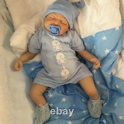 Cherish Dolls Reborn Baby Doll Réaliste 22 Nouveau-né Ethan Uk Lifelike
