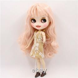 Cheveux Roses Takara 12 Neo Blythe Customized Face Nude Doll Factory Joint Corps #236