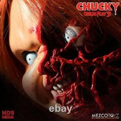 Child ́s Play 3 Designer Series Parler Pizza Face Chucky Doll 38 CM Mezco