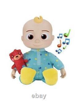 Cocomelon Peluche Musical Bedtime Jj Doll & Teddy Bear Youtube Sings