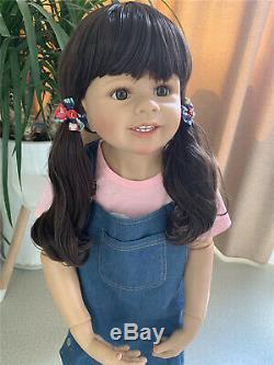 D'énormes 39 Pouces Enfant En Bas Âge Réincarné Real Life Reborn Nuisettes Filles Avec Cheveux Bouclés