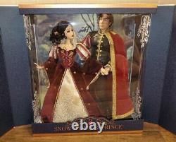 Disney Limited Edition 650 Designer Snow White And Prince Platinum Doll Set