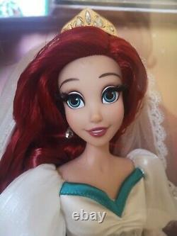 Disney Store Petite Sirène Mariage Ariel Et Eric Edition Limitée 17 Ensemble De Poupées