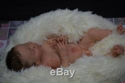 Full Body Douce Fille Solide Prematur16silicone Poupée Bébé / Reborn Silicona