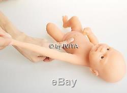Full Body Silicone Réincarné Baby Doll Fille Vivant Prématuré Nouveau-né Cadeau D'anniversaire