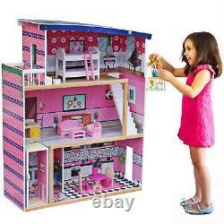 Grande Taille Doll House Girls Dream Play Playhouse Dollhouse Jeu En Bois Jouet Nouveau