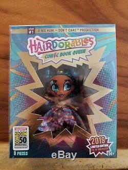 Hairdorables Sdcc 2019 Ucc Exclusive Comic Book Queen Deluxe Doll Le 500 Dans La Main