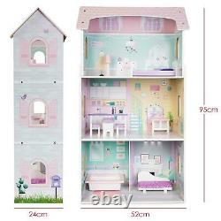 Homestoredirect Maison De Poupée En Bois Ensemble Dollhouse Avec Accessoires De Meubles De Jeu