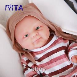Ivita 14'' Full Body Silicone Reborn Dolls Realistic Baby Boy Ooak Jouet Cadeau De Noël