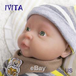 Ivita 16 '' (41cm) Réincarné Full Body Silicone Baby Boy Doll Réaliste Jouet Mignon