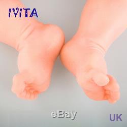 Ivita 18,5 '' Full Soft Body Bébé Reborn Silicone Boy Réel Doll Baby Sleeping