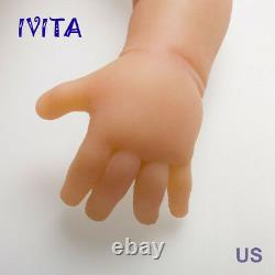 Ivita 18.5'' Yeux Fermés Silicone Reborn Baby Girl Infrant Baby Doll 3700g