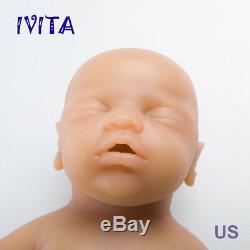 Ivita 18 Pouces Baby Doll-yeux Fermés Fille Full Body Silicone Souple Lifelike Réincarné