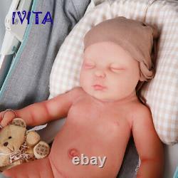 Ivita 18 '' Pour Bébé Dormir Reborn Silicone Baby Doll Yeux Fermés Baby Girl