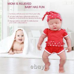 Ivita 18 Silicone Reborn Baby Eyes Closed Doll Toy Special Ventes Cadeaux De Vacances