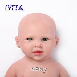 Ivita 19 '' La Main Reborn Réaliste En Silicone Big Eyes Baby Girl 3600g