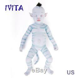 Ivita 20 Pouces Avatar Silicone Poupée Réaliste En Silicone Reborn Baby Girl 2900g