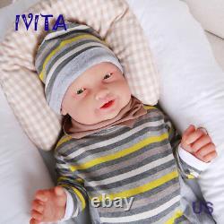 Ivita 23 '' Big Réincarné Boy Full Body En Silicone Poupée Adorable Sourire Bébé Nourrisson