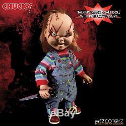 Jeu D'enfant Chucky Parler Scarred Mega Balance Poupée Avec Son 15 Mezco