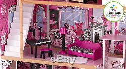 Kidkraft Amelia Maison De Poupée, Maison En Bois Avec Fits Lift Barbie Dolls Taille