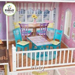Kidkraft Country Estate Dollhouse, Grande Poupée En Bois Mansion S'adapte Barbie Dolls