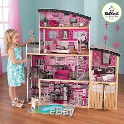 Kidkraft Étincelle Mansion Dollhouse Grande Filles Woode Dolls House