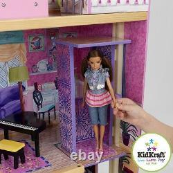 Kidkraft My Dream Maning Wood House De Poupée Avec Ascenseur Convient Aux Poupées De Taille De Barbie
