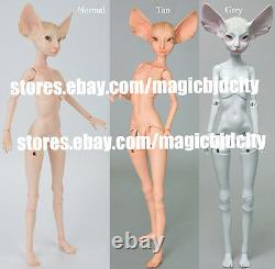 Limited Time Discount 1/4 Bjd Fantasy Doll Sphynx Chat Yeux Libres + Face Up