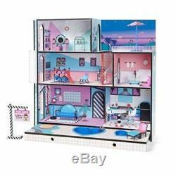 Lol Surprise Doll Maison Avec 85+ Surprises Multi Histoire En Bois Coloré Filles-new
