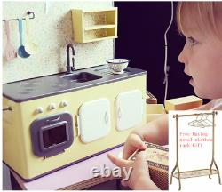 Maileg Kitchen Metal Mini Cupboard With Cookware Sink B-day Xmas Gift Doll Décor