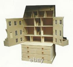 Maison De Poupée 1/12 Échelle Le City House Kit Large (non Compris La Base) Par Dhd