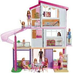 Mattel Barbie Dollhouse Avec Piscine, Glissière Et Ascenseur Nouveau Jouet