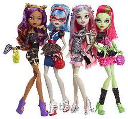 Mattel Monster High Nachtschwärmer 4 Puppen Bbr96 Ovp Weihnachtsgeschenk