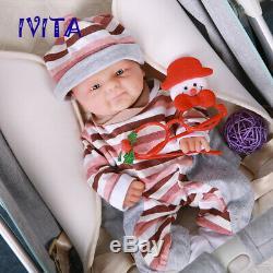 Mignon 14 Réincarné Silicone Full Body Baby Doll Bébés Imperméables + Vêtements Cadeau De Noël
