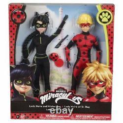Miraculeux Ladybug Lady Noire Et Mister Bug Doll Exclusive Set Noir 2021