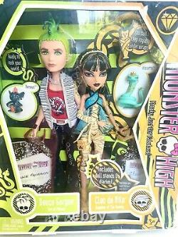 Monster High Cleo De Nil Et Deuce Gorgon Doll Première Vague Retraité Nouveau Nrfb