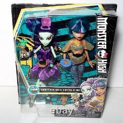 Monster High Scream Et Sugar Nefera De Nile & Amanita Nightshade Dolls Nouveau