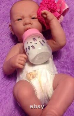 My Dream Baby Girl! Berenguer Prématuré Lifelike Doll W Réincarné Sucette, Bouteille