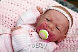 My Precious Baby Girl! Berenguer Prématuré Lifelike Doll W Réincarné Sucette, Bouteille