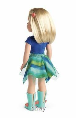 New American Girl Doll Wellie Wishers Camille Blonde Hair Blue Eyes Nib Euc