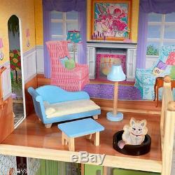 New Kidkraft Majestic Mansion Doll Jouer Maison Grand Mobilier Enfants Convulsions Barbies
