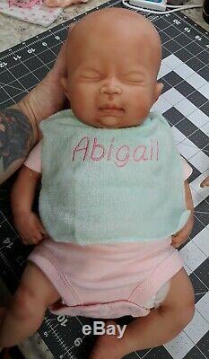 Nouveau 16 Prématuré Full Body Silicone Baby Girl Doll Abigail
