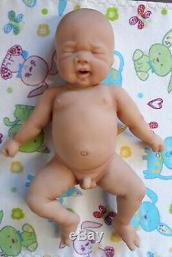 Nouveau 8 Micro Prématuré Full Body Silicone Baby Boy Doll Cooper