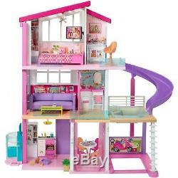 Nouveau Barbie Dreamhouse Avec 70+ Accessoires Pieces Rêve Playset Doll House Filles