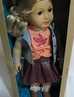 Nouveau Dans Box American Girl 18 Tenney Grant Doll Book Outfit Blonde Hair Musician